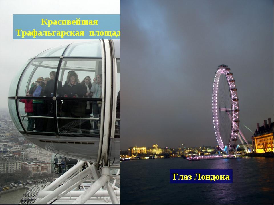 Красивейшая Трафальгарская площадь Глаз Лондона