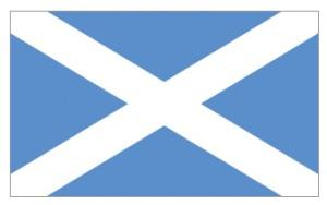 Флаг Шотландии как символ