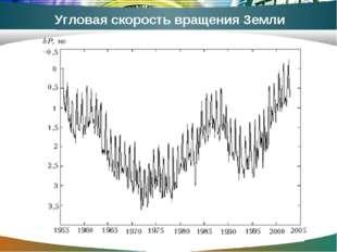 Угловая скорость вращения Земли