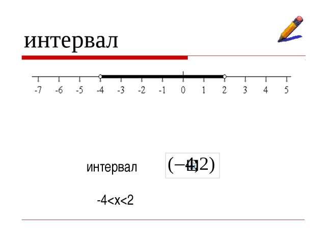 интервал интервал -4