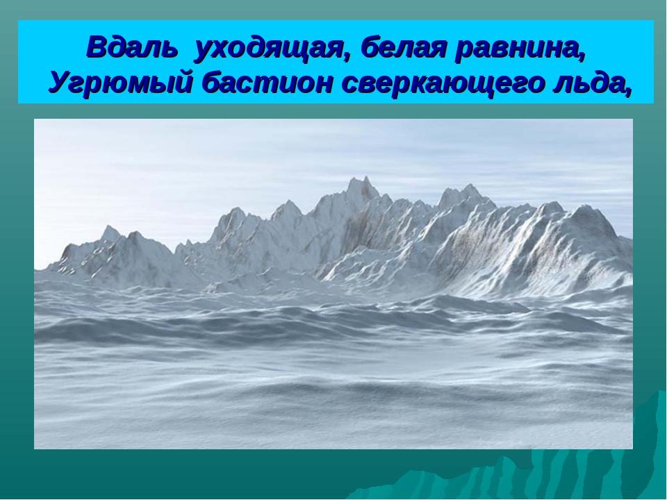 Вдаль уходящая, белая равнина, Угрюмый бастион сверкающего льда,