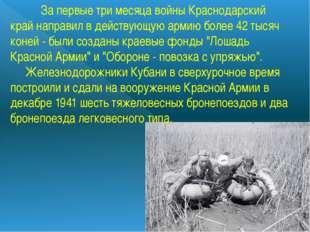 За первые три месяца войныКраснодарский крайнаправил в действующую армию
