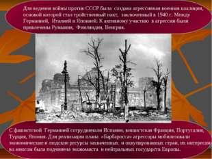 Для ведения войны против СССР была создана агрессивная военная коалиция, осно