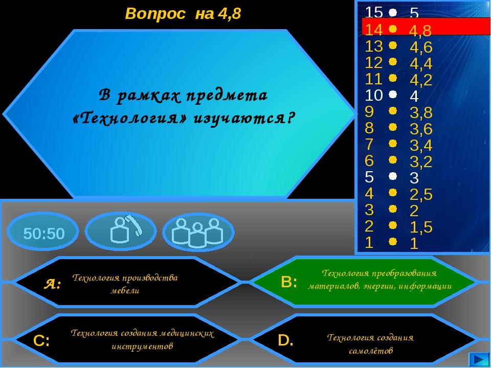 50:50 15 13 12 11 10 9 8 7 6 5 4 3 2 1 5 4,6 4,4 4,2 4 3,8 3,6 3,4 3,2 3 2,5...