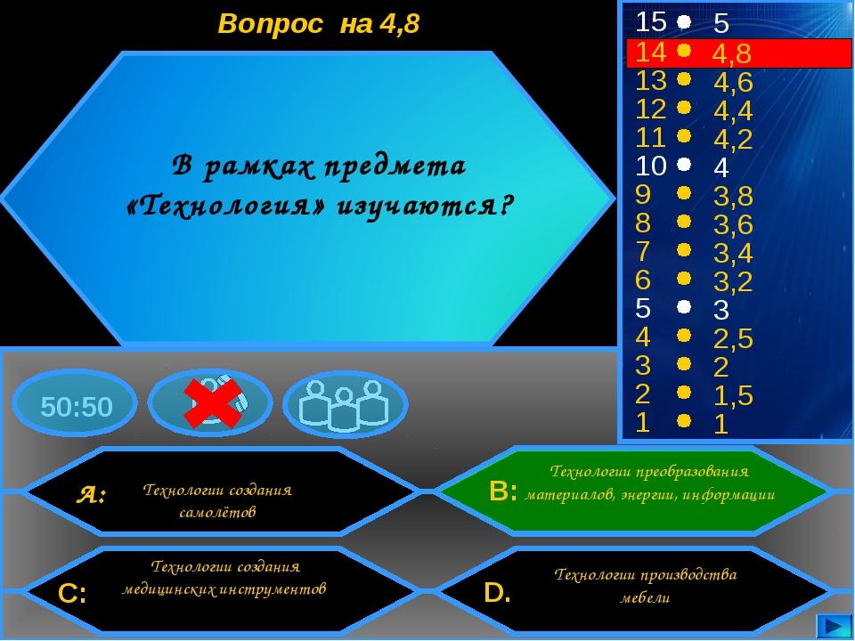 50:50 15 14 13 12 11 10 9 8 7 6 5 4 3 2 1 5 4,8 4,6 4,4 4,2 4 3,8 3,6 3,4 3,2...