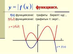 функциясе. f(x) функциясенең графигы бирелгәндә, функциясенең графигын төзер