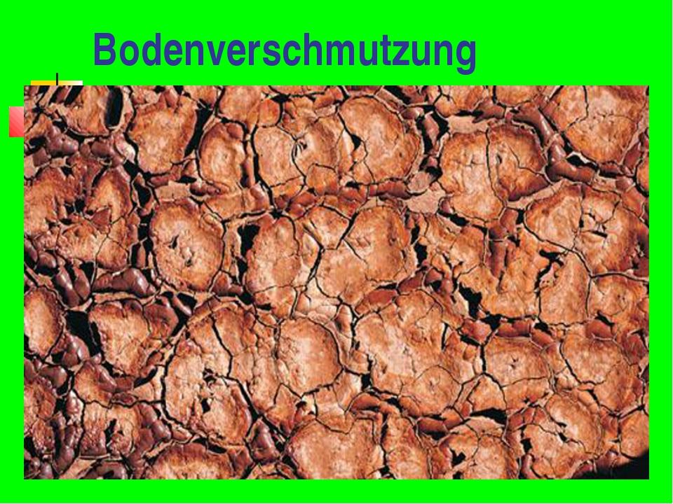 Bodenverschmutzung