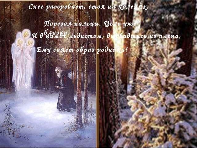 Снег разгребает, стоя на коленях. . . Порезал пальцы. Цель уже близка. И в н...