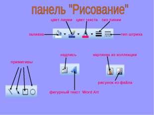 примитивы надпись фигурный текст Word Art картинка из коллекции рисунок из фа