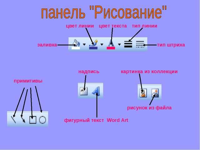 примитивы надпись фигурный текст Word Art картинка из коллекции рисунок из фа...