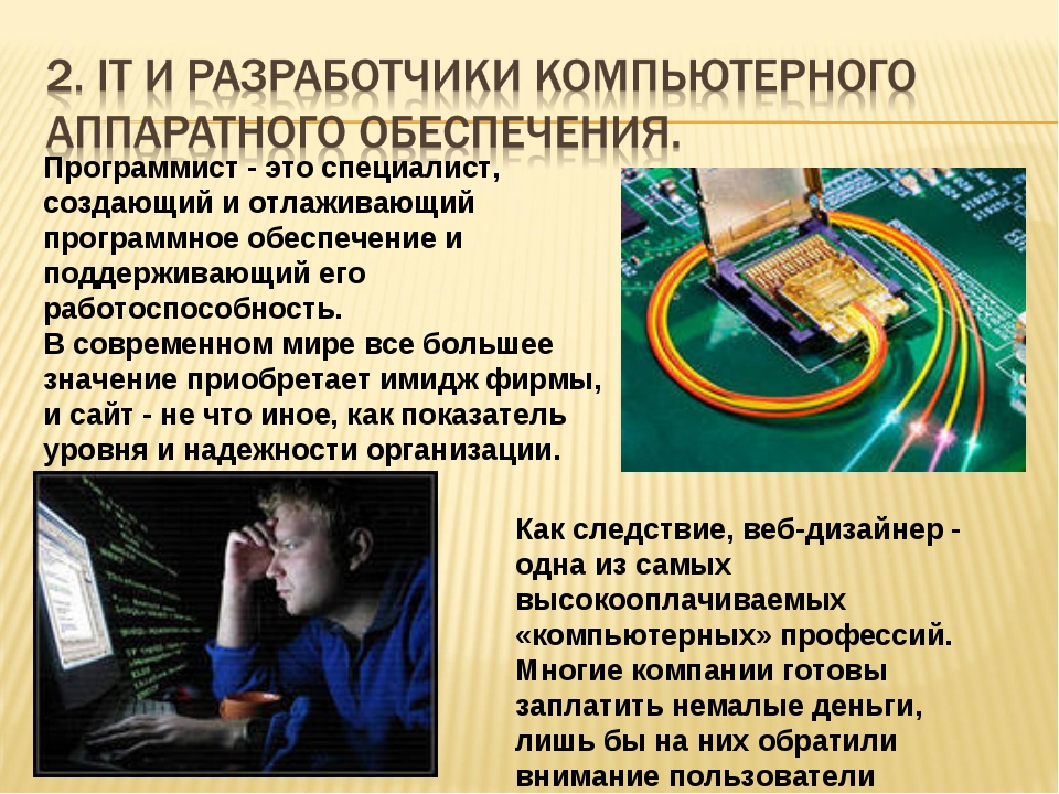 Программист - это специалист, создающий и отлаживающий программное обеспечен...