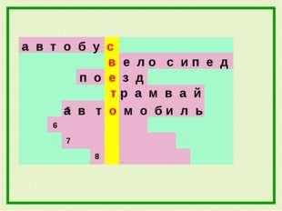 а в т о б у с в е л о с и п е д 7 6 5 8 п о е з д т р а м в а й а в т о м о б
