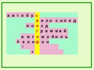 а в т о б у с в е л о с и п е д 7 6 8 п о е з д т р а м в а й а в т о м о б и
