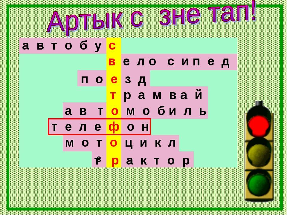 а в т о б у с в е л о с и п е д 8 п о е з д т р а м в а й а в т о м о б и л ь...