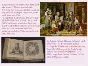 Im Brüder-Grimm-Museum in Kassel wird der zweite Teil der handschriftlichen A