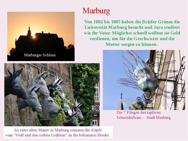 Marburg Marburger Schloss Die 7 Fliegen des tapferen Schneiderleins – Stadt M...