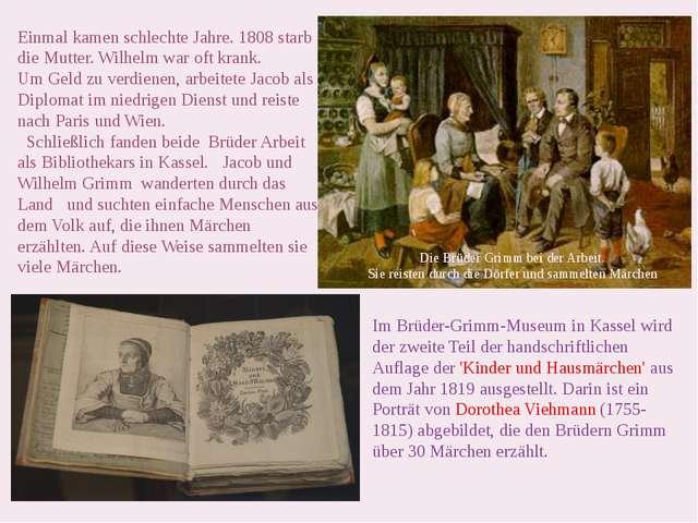 Im Brüder-Grimm-Museum in Kassel wird der zweite Teil der handschriftlichen A...