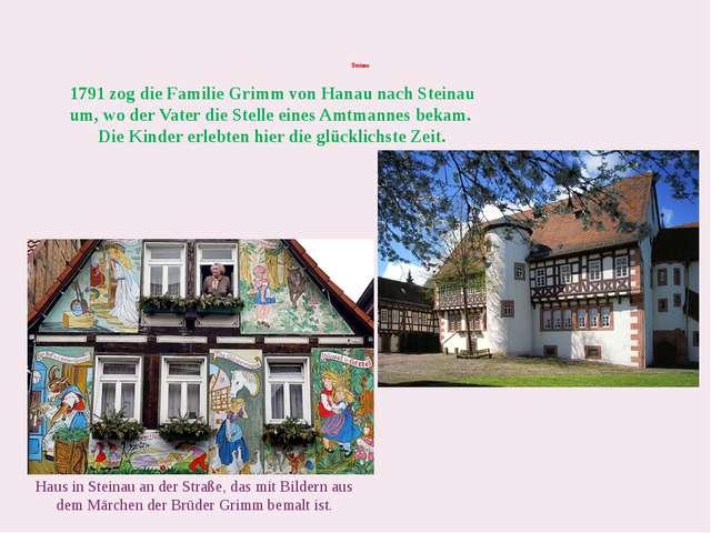 Steinau Haus in Steinau an der Straße, das mit Bildern aus dem Märchen der B...