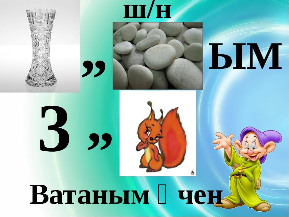 """ ш/н ЫМ 3 "" Ватаным өчен"