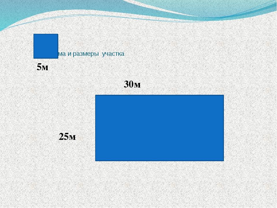 форма и размеры участка 5м 30м 25м