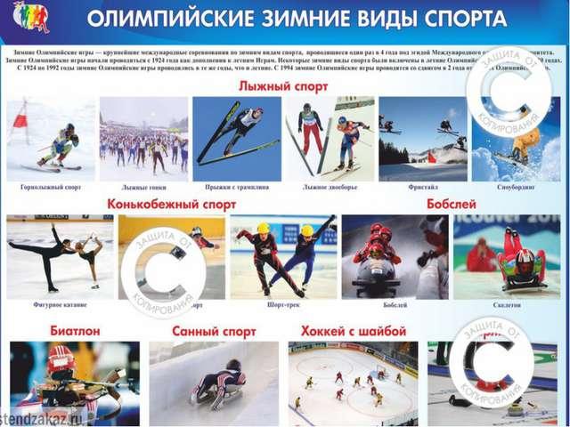 Зимние виды спорта Биатлон