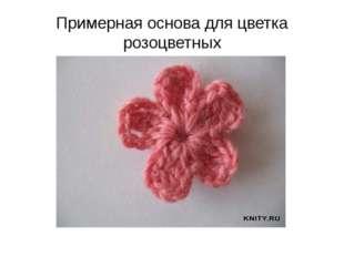 Примерная основа для цветка розоцветных