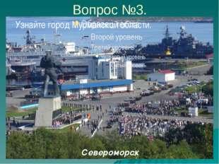 Вопрос №3. Узнайте город Мурманской области. Североморск Канал