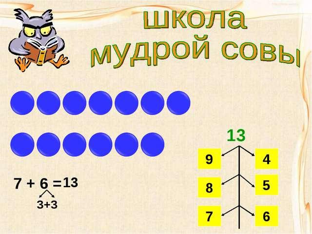 7 + 6 = 3+3 13 13 9 4 8 5 7 6