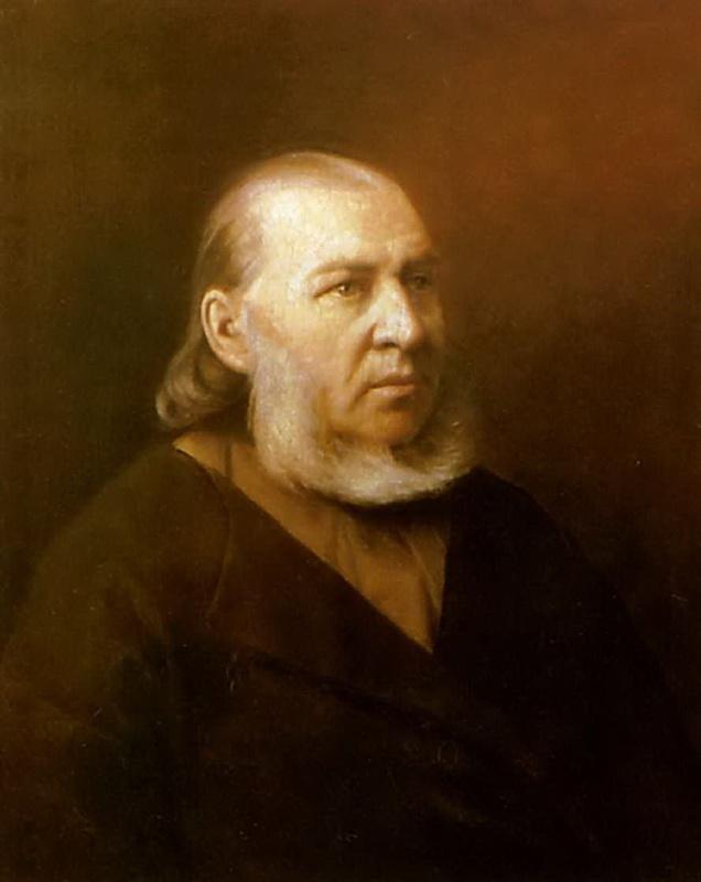Портрет писателя Сергея Тимофеевича Аксакова. 1872 Саратов. Перов Василий Григорьевич (1833-1882)