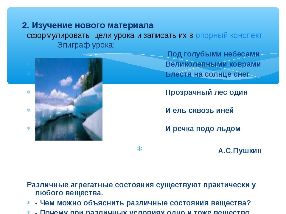 Под голубыми небесами Великолепными коврами Блестя на солнце снег лежит Проз...