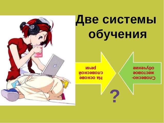 Две системы обучения ?