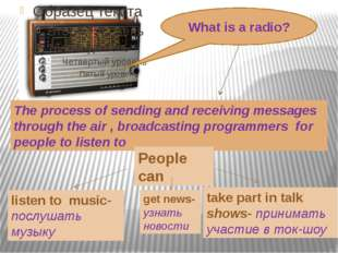 Find the correct translation 3.Miss a radio programmer 4.Get news over the ra