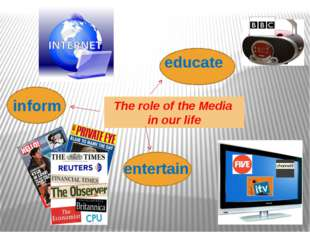 The role of the Media in our life inform educate entertain