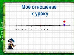 -5 -4 -3 -2 -1 0 1 2 3 4 5 Моё отношение к уроку