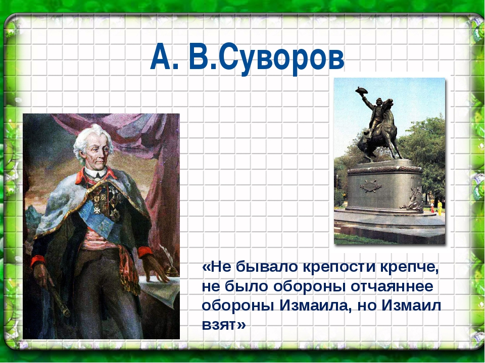 А. В.Суворов «Не бывало крепости крепче, не было обороны отчаяннее обороны Из...