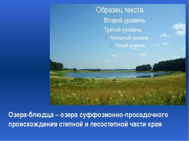 Озера-блюдца – озера суффозионно-просадочного происхождения степной и лесост...