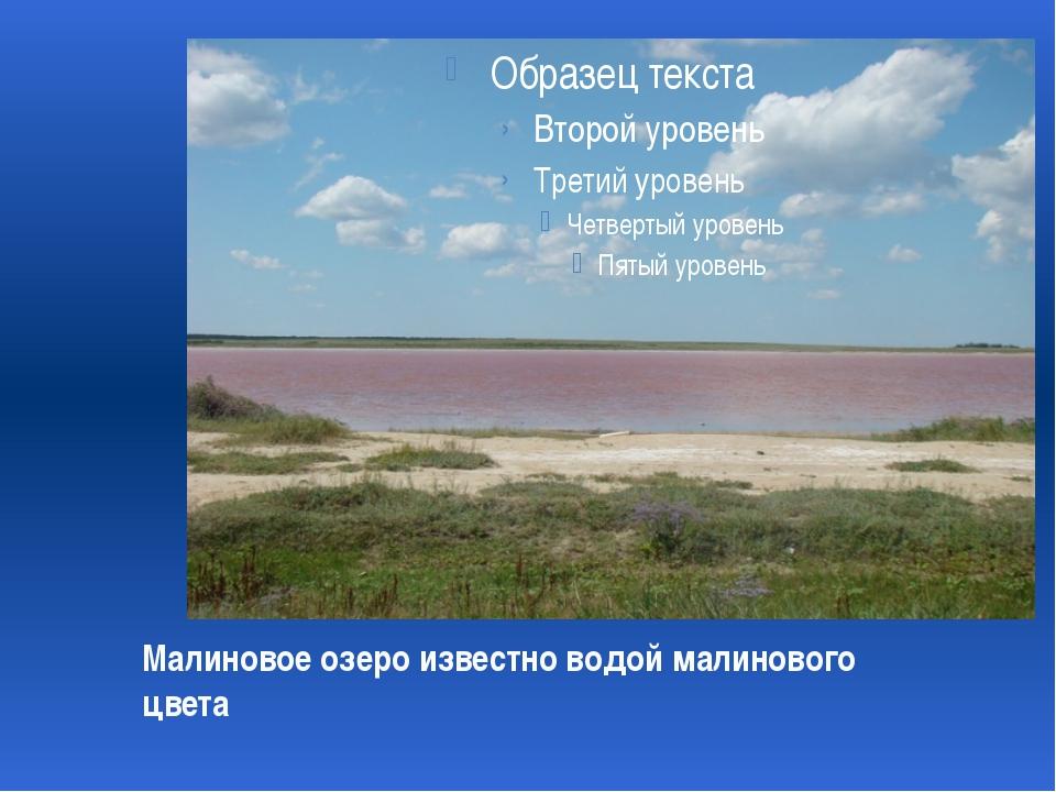 Малиновое озеро известно водой малинового цвета