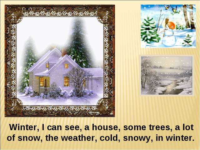 Winter, I can see, a house, some trees, a lot of snow, the weather, cold, sn...