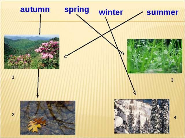1 2 3 4 4 summer autumn winter spring