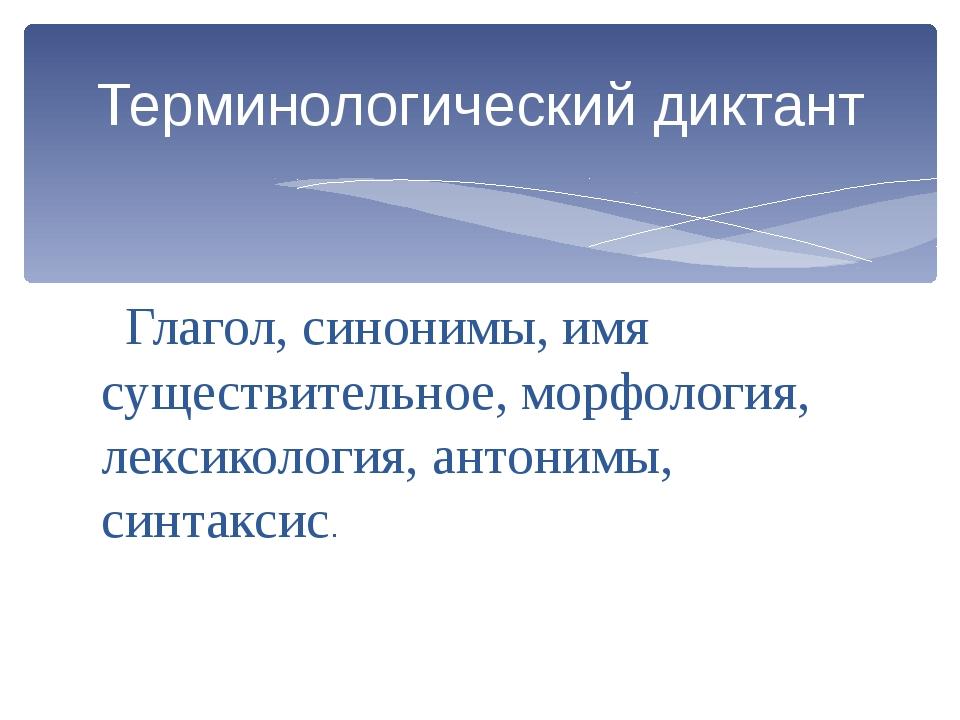 Глагол, синонимы, имя существительное, морфология, лексикология, антонимы, с...