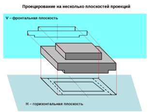 Проецирование на несколько плоскостей проекций V – фронтальная плоскость H –
