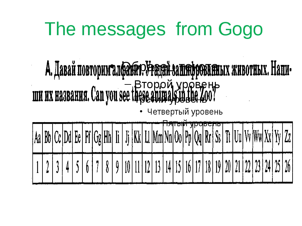 The messages from Gogo