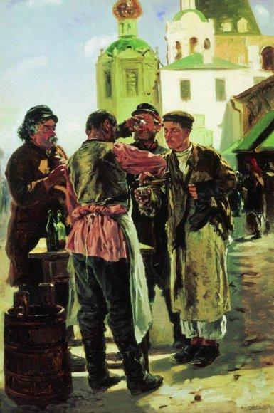 Маковский Владимир Егорович - Продавец кваса (1879)