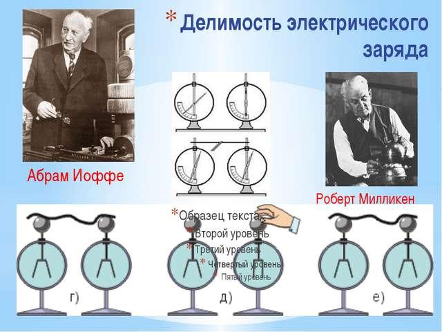 Делимость электрического заряда Роберт Милликен Абрам Иоффе