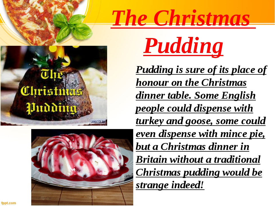 The Christmas Pudding Pudding is sure of its place of honour on the Christmas...