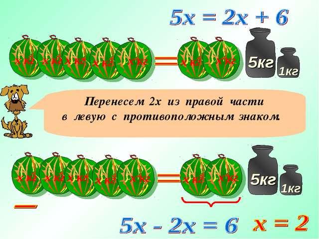 х кг х кг х кг х кг х кг х кг х кг Перенесем 2х из правой части в левую с про...