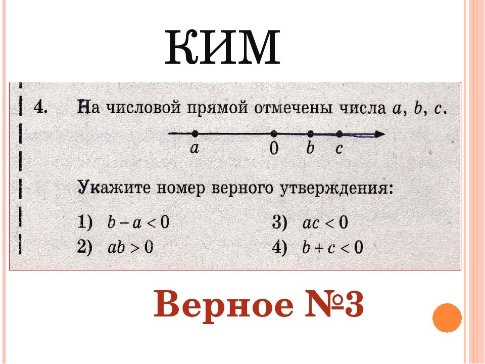 КИМ Верное №3