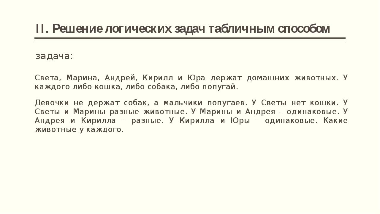 2. Мальчики не держат попугаев Света Марина Андрей Кирилл Юра Кошка Собака -...