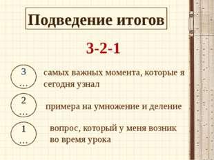 3-2-1 3… 2… 1… самых важных момента, которые я сегодня узнал примера на умнож