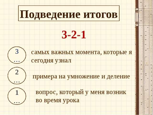 3-2-1 3… 2… 1… самых важных момента, которые я сегодня узнал примера на умнож...